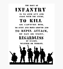 Role of Infantry Photographic Print