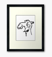 Camel funny silly cool Framed Print