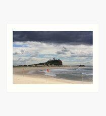 Nobby Beach Lighthouse Newcastle  Art Print