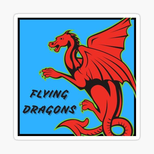Flying Dragons Logo Sticker