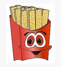 French Fry Cartoon Photographic Print