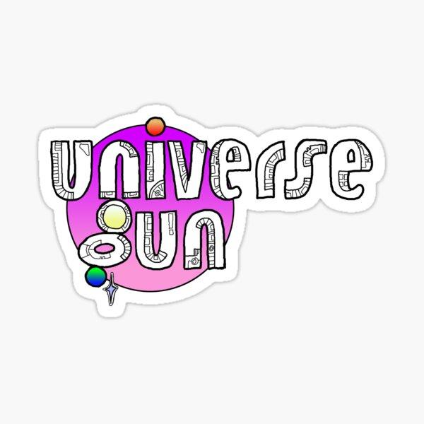 Universe Gun Pink Sticker