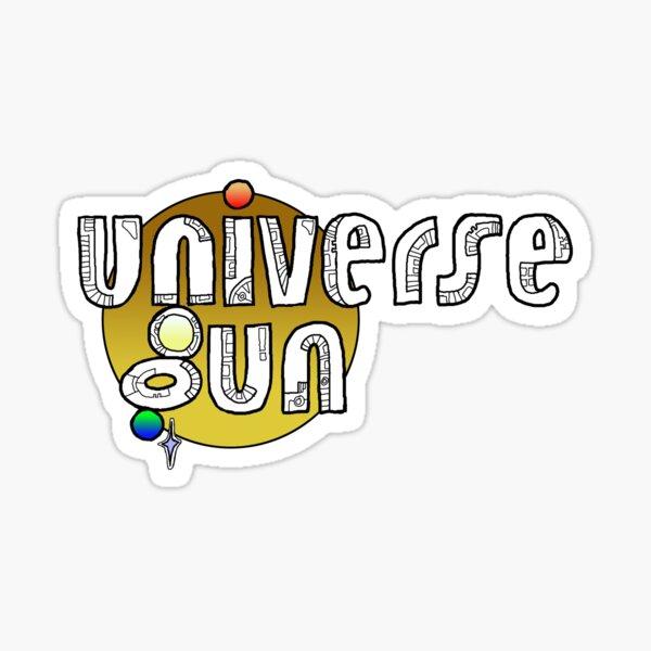Universe Gun Gold Sticker