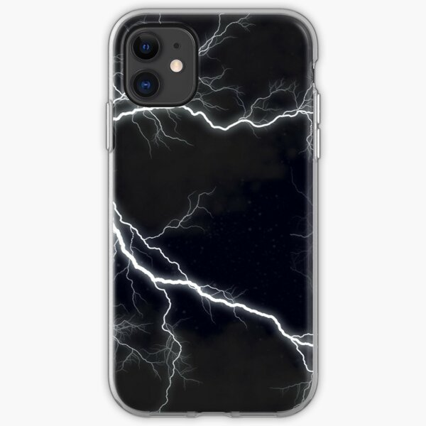 Black Lightning  iPhone Soft Case
