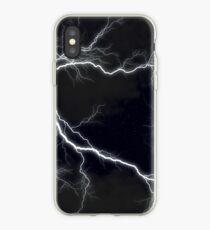 Vinilo o funda para iPhone Relámpago negro