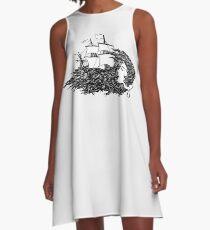 Lost at Sea A-Line Dress