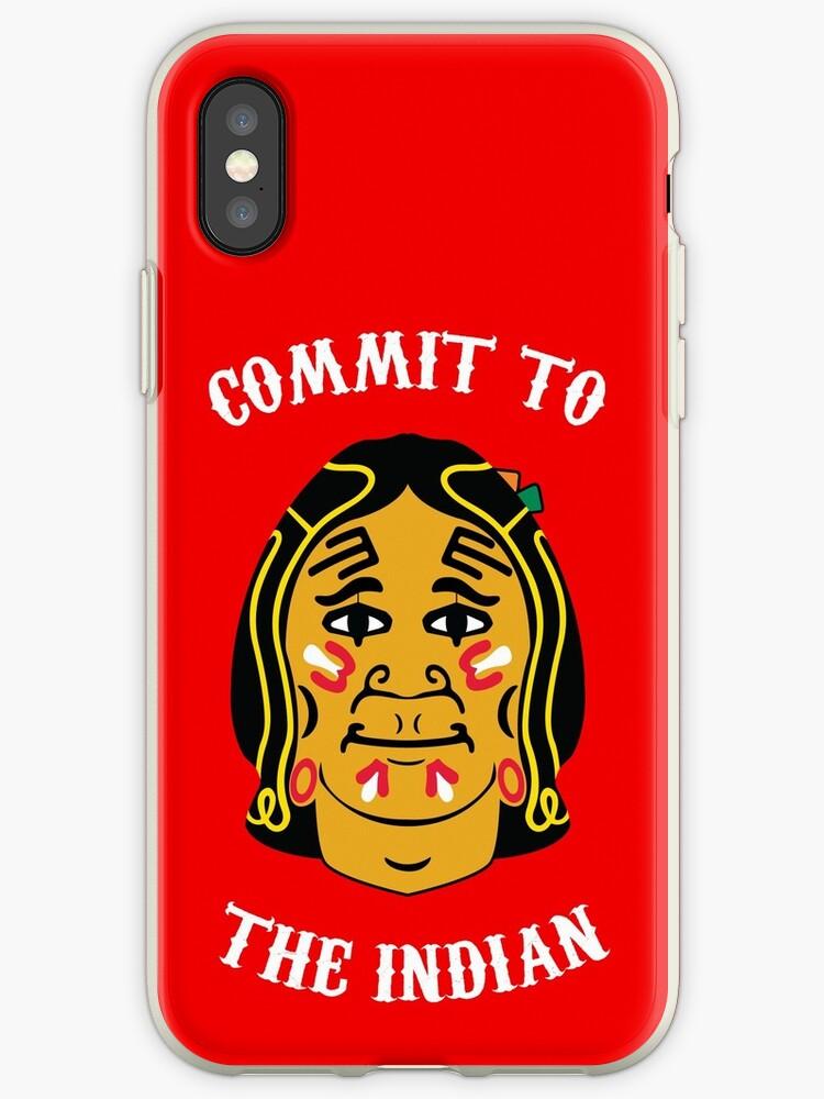'Blackhawk Face' iPhone Case by bloodsweatbeer