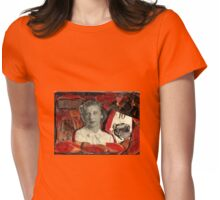 The Case of  the Curious Collage-A Nancy Drew Tribute. Womens Fitted T-Shirt