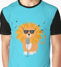 Cool music lion Graphic T-Shirt