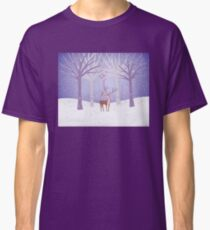 Deer - Squirrel - Winter - Snow - Forest Classic T-Shirt