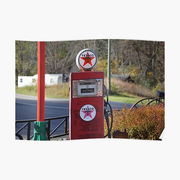 CONOCO GAS SERVICE STATION PUMPS SCENE WALL MURAL SIGN BANNER ART VARIOUS SIZES