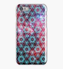 Spiderman Nebula [Happy Blue] | Sacred Geometry Patterns iPhone Case/Skin