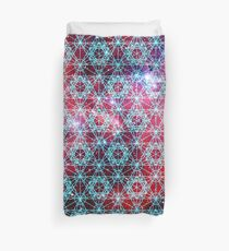 Spiderman Nebula [Happy Blue] | Sacred Geometry Patterns Duvet Cover