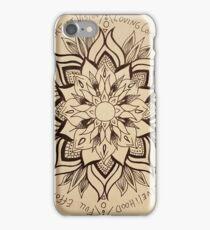 Wheel Mandala of Dharma  iPhone Case/Skin
