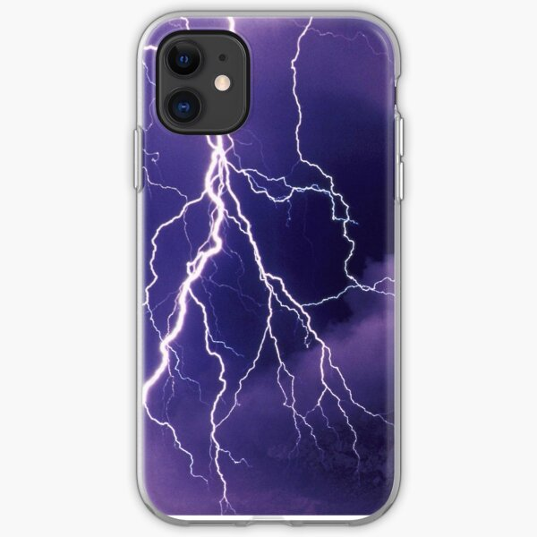 Storm Clouds and Lightning iPhone Soft Case