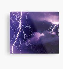 Storm Clouds and Lightning Metal Print