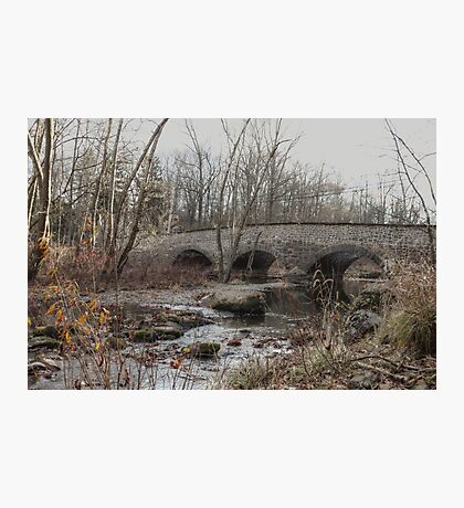 The Stone Arch Bridge Over The Unami Creek at Sumneytown PA USA Photographic Print