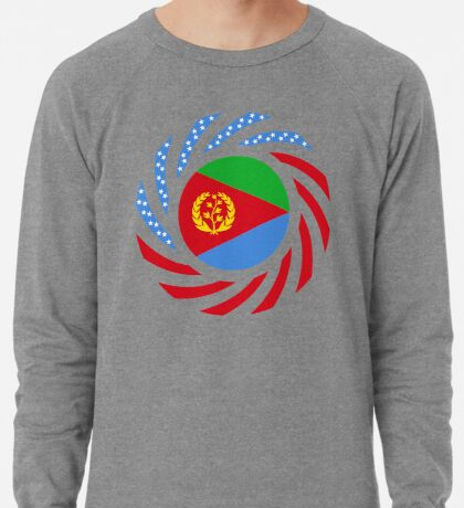 Eritrean American Multinational Patriot Flag Series Lightweight Sweatshirt