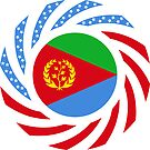 Eritrean American Multinational Patriot Flag Series by Carbon-Fibre Media