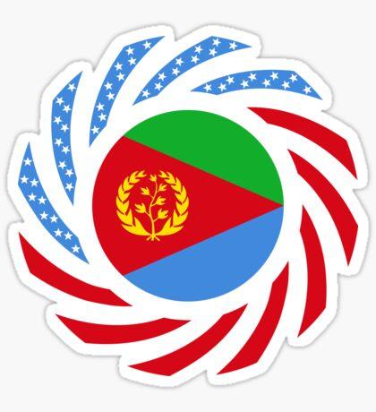Eritrean American Multinational Patriot Flag Series Glossy Sticker