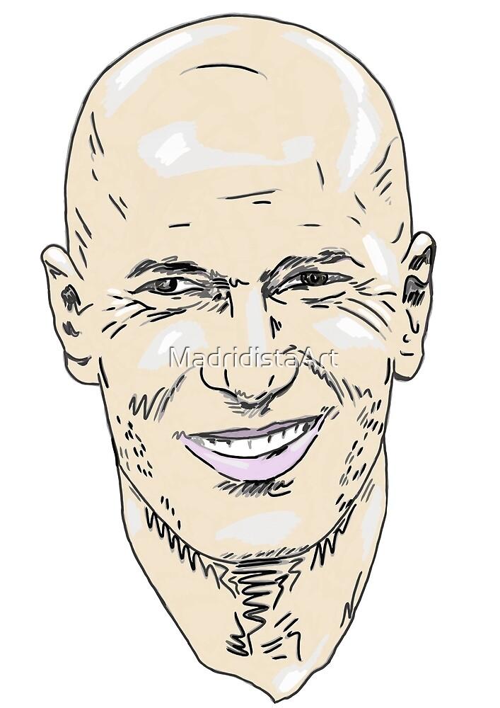 Zinedine Zizou Zidane by MadridistaArt