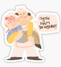 Ham and Cheese Sticker
