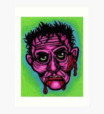 Pink Zombie Art Print