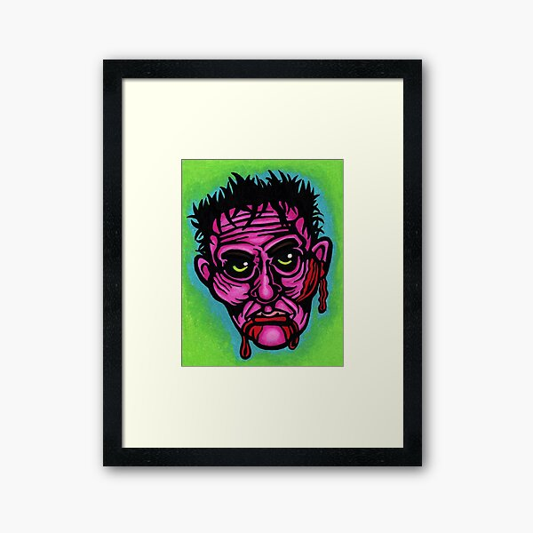 Pink Zombie Framed Art Print