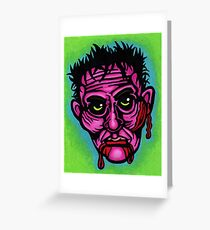 Pink Zombie Greeting Card