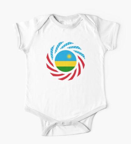 Rwandan American Multinational Patriot Flag Series Kids Clothes