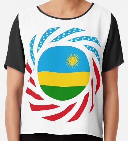 Rwandan American Multinational Patriot Flag Series Chiffon Top
