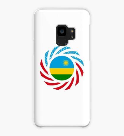 Rwandan American Multinational Patriot Flag Series Case/Skin for Samsung Galaxy