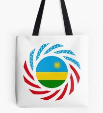 Rwandan American Multinational Patriot Flag Series Tote Bag