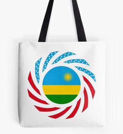 Rwandan American Multinational Patriot Flag Series Tote Bag