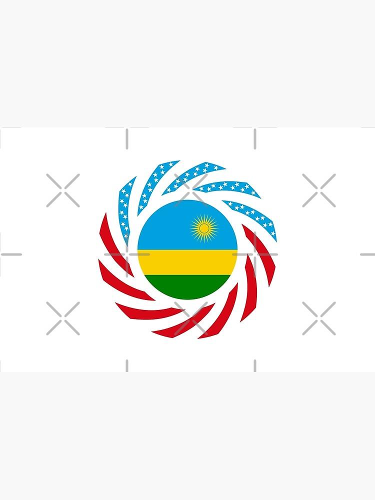 Rwandan American Multinational Patriot Flag Series by carbonfibreme