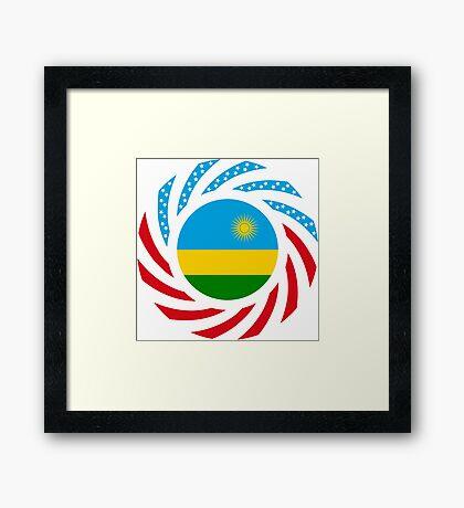 Rwandan American Multinational Patriot Flag Series Framed Print