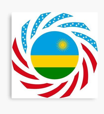 Rwandan American Multinational Patriot Flag Series Canvas Print