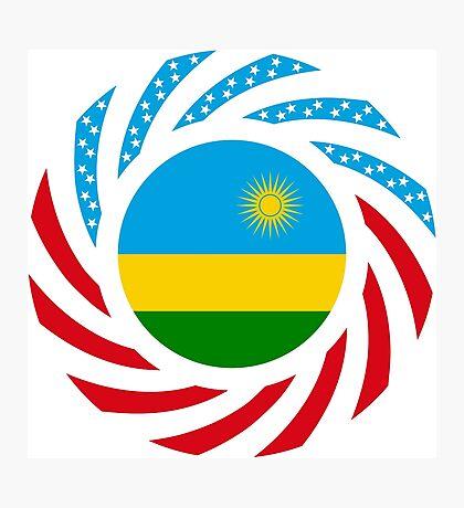 Rwandan American Multinational Patriot Flag Series Photographic Print