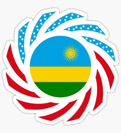 Rwandan American Multinational Patriot Flag Series Sticker