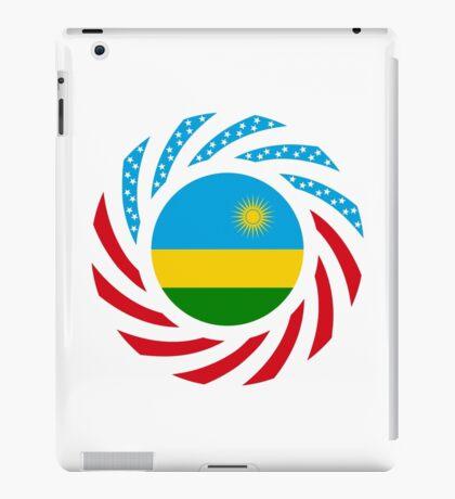 Rwandan American Multinational Patriot Flag Series iPad Case/Skin
