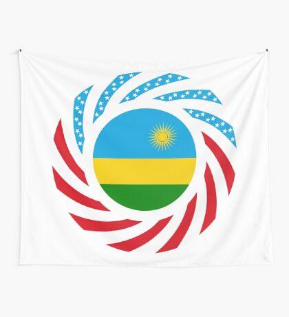 Rwandan American Multinational Patriot Flag Series Wall Tapestry