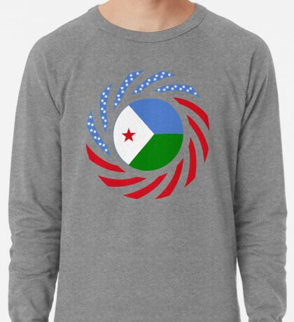 Djibouti American Multinational Patriot Flag Series Lightweight Sweatshirt