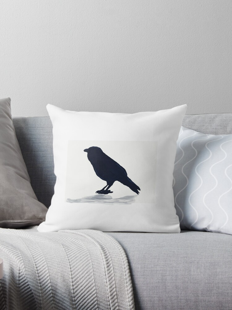 Raven Sillouette Pillow by Ravenclaww04