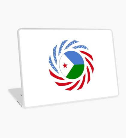 Djibouti American Multinational Patriot Flag Series Laptop Skin