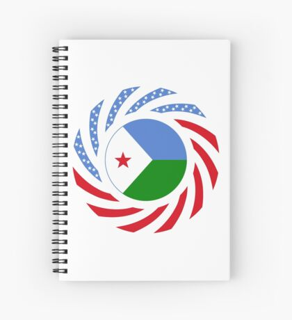 Djibouti American Multinational Patriot Flag Series Spiral Notebook