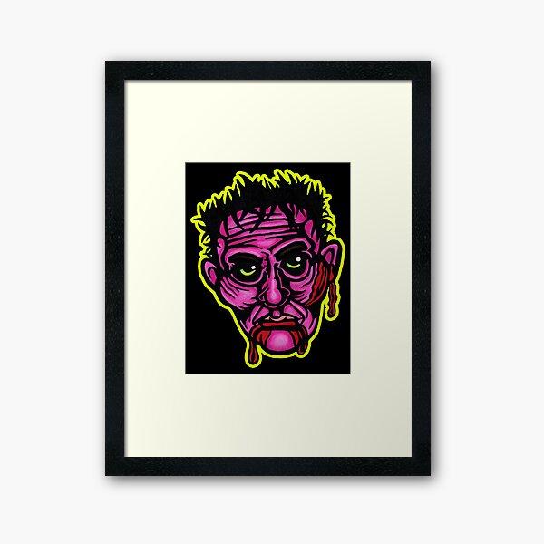 Pink Zombie - Die Cut Version Framed Art Print
