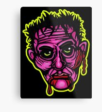 Pink Zombie - Die Cut Version Metal Print