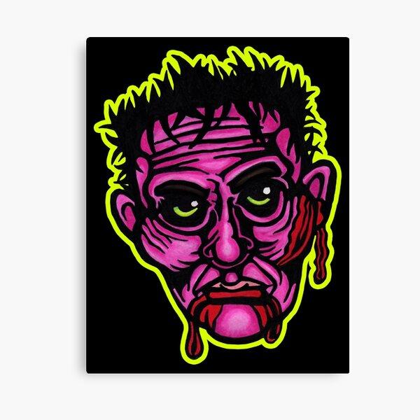 Pink Zombie - Die Cut Version Canvas Print