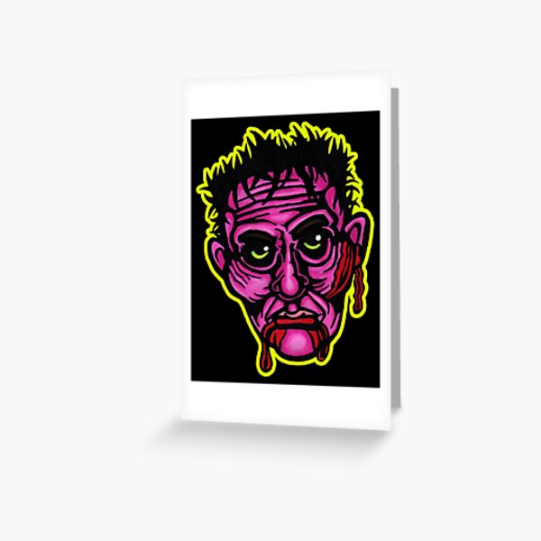 Pink Zombie - Die Cut Version Greeting Card