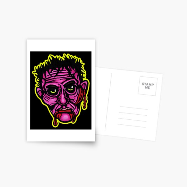 Pink Zombie - Die Cut Version Postcard